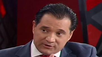 Άδωνις Γεωργιάδης Βουλευτής και Υπουργός Ανάπτυξης και Επενδύσεων στην Κυβέρνηση του Κυριάκου Μητσοτάκη Νέα Δημοκρατία, τ. υπουργός υγείας στη συγκυβέρνηση της ΝΔ με το ΠΑΣΟΚ με Πρωθυπουργό τον Αντώνη Σαμαρά το 2013.