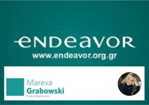 Endeavor Non-Profit Co., founder Maria Eva Virginia Grabowski Mitsotaki, mentor Frouzis (Novartis).