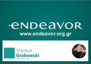 Endeavor Μ.Κ.E. ιδρύτρια η Μαρία Εύα Βιργινία Γκραμπόφσκι Μητσοτάκη, mentor ο Φρουζής (Novartis).