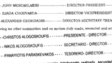 Alexandros Georgiadis in the tax haven of Panama